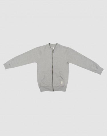 Kinder sweatshirt met rits grijs gemêleerd