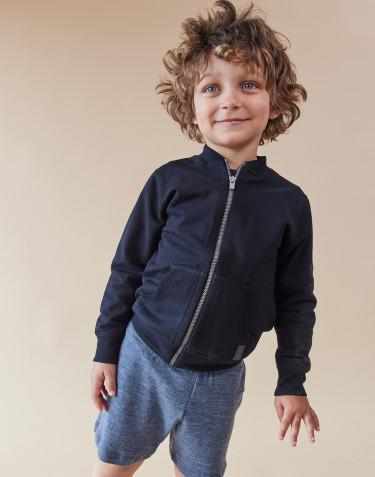 Kinder sweatshirt met rits zwart