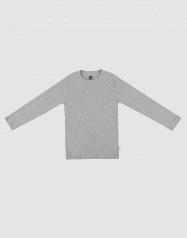 Pyjamashirt voor kinderen grijs gemêleerd