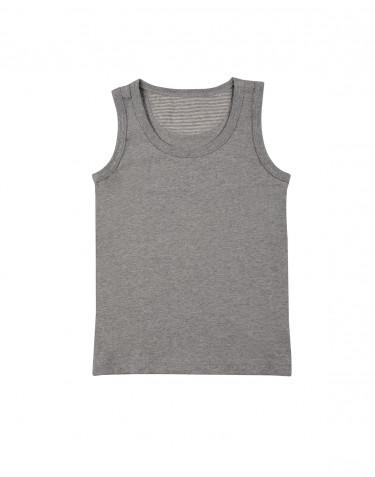 Grijs melange katoenen onderhemd