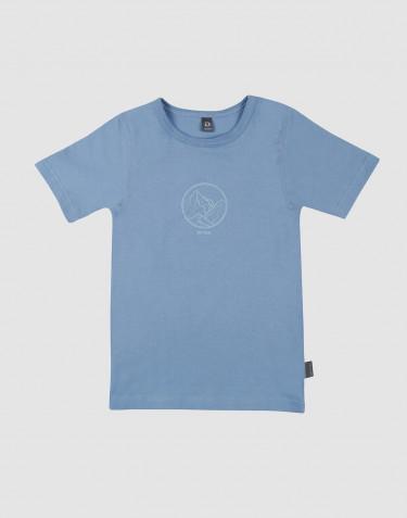 Kinder T-Shirt met print blauw