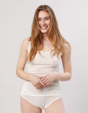 Merinos onderhemd voor dames natuur