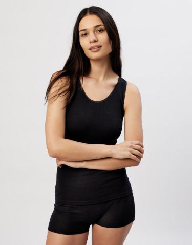 Merinos onderhemd voor dames zwart