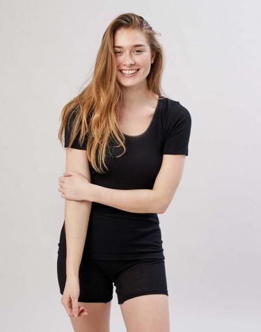 Merinos T-shirt voor dames zwart