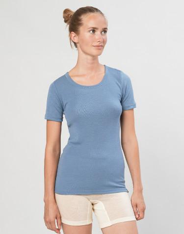 Merino wollen dames T-shirt - Blauw