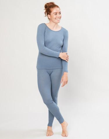 Merino wollen legging voor dames - Blauw