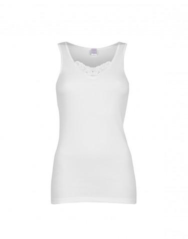 DILLING - Maatje meer dames shirt van katoen wit