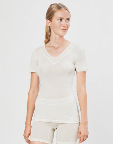 Dames T-shirt van wol/natuurzijde