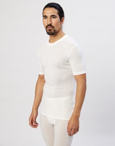 Merinos shirt met halflange mouwen voor heren natuur