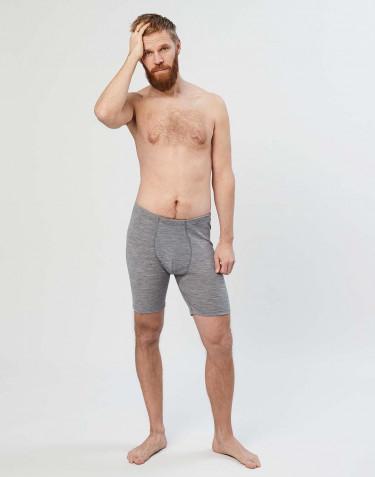 Merinos boxershorts met gulp voor heren grijs