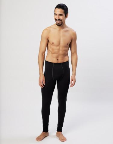 Merinos legging met gulp voor heren zwart