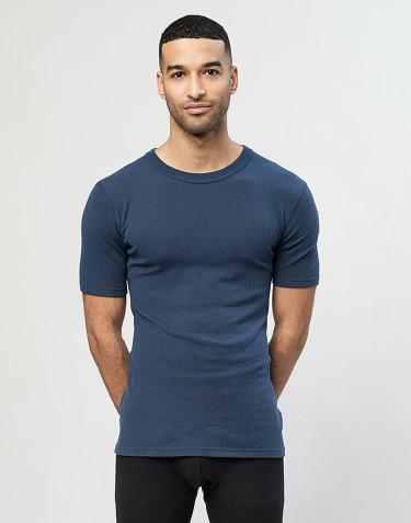 Geribd heren T-shirt Donker petrolblauw
