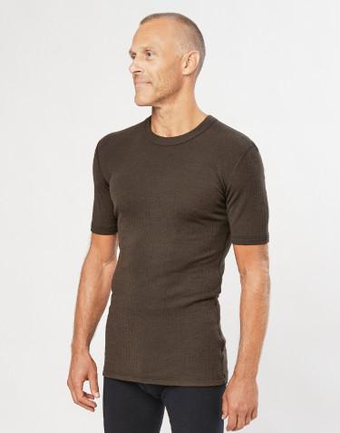 Geribd heren t-shirt chocoladebruin