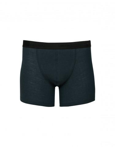 Geribde merino boxershorts midnachtsblauw