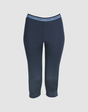 3/4 leggings voor vrouwen - exclusieve Merinowol donkerblauw