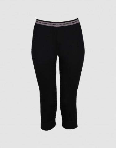3/4 leggings voor vrouwen - exclusieve zwarte merino wol