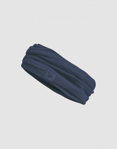 Dames colsjaal van exclusieve merino wol donkerblauw