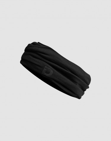 Dames colsjaal gemaakt van exclusief merinowol zwart