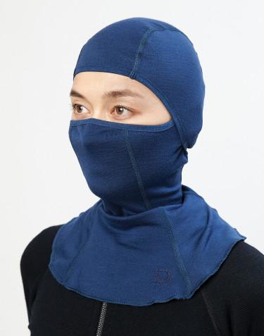 Dames bivakmuts - exclusieve biologische merino wol donkerblauw