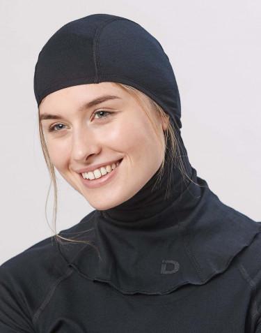 Dames bivakmuts - exclusieve biologische merino wol zwart