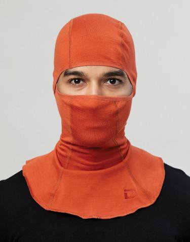 Bivakmuts voor heren - exclusieve biologische merino wol oranje