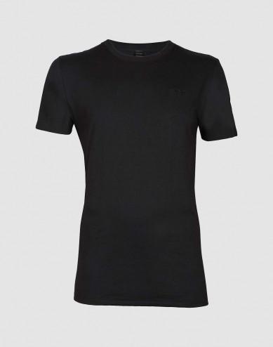 Katoenen T-shirt voor mannen zwart