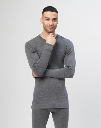 Heren trui van merino wol - grijs