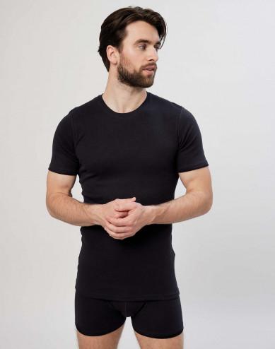 Premium classic - katoenen heren t-shirt zwart