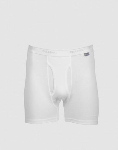 DILLING - Maatje meer katoenen boxershorts met gulp wit