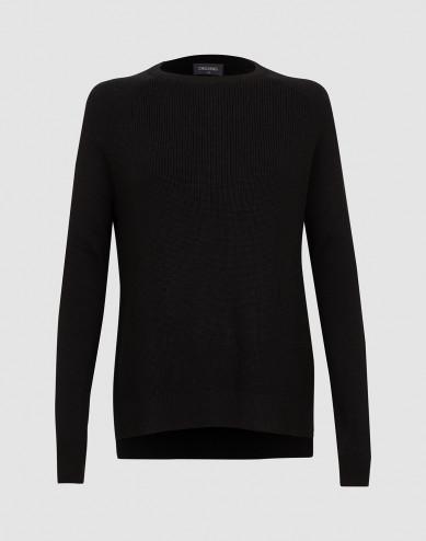 Dames gebreide trui zwart