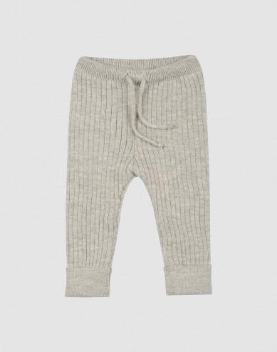 Gebreide broek voor baby's - Grijs melange