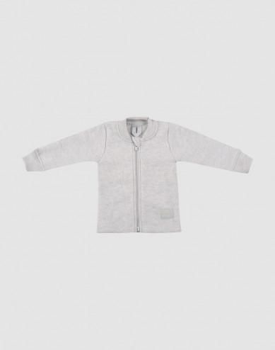 Baby jas van wolfleece lichtgrijs