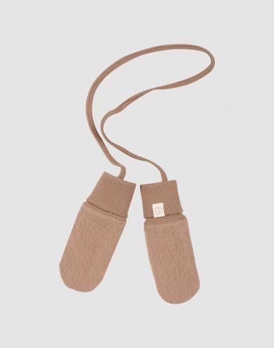 Handschoenen van wolfleece voor baby's kaneel