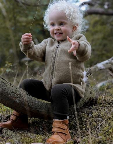 Baby merino wol fleece jasje