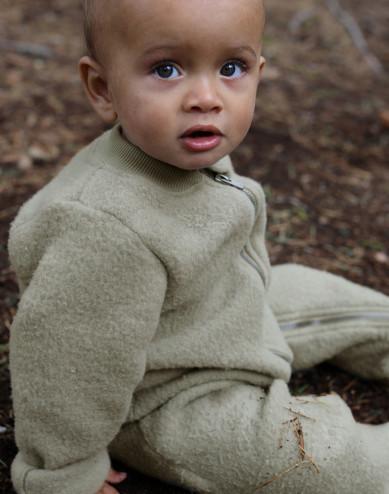 Baby merino wol fleece kinderwagenpak