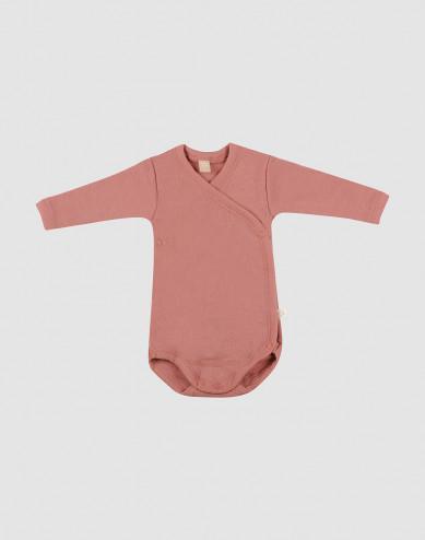 Wikkelromper voor baby's donker roze
