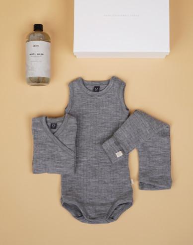 Babypakket grijs maat 56