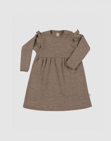 Merino wollen jurk met ruches voor baby's