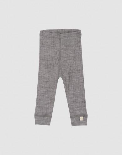 Geribde baby legging grijs melange