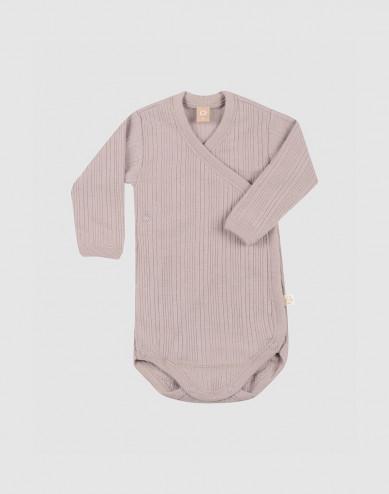 Merino wollen overslagromper voor baby's