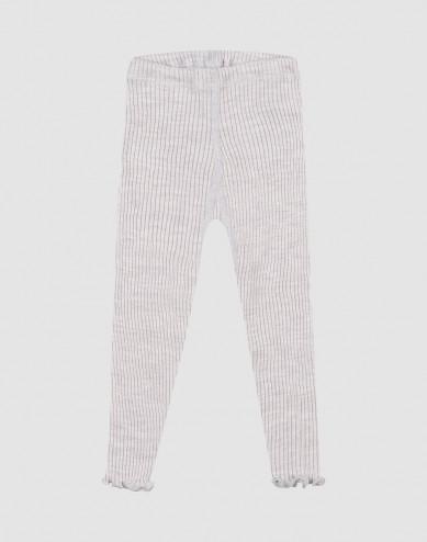 Merino wollen leggins met ruches aan de randen voor baby's