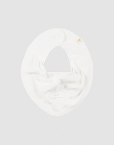 Baby slabbetje in natuurlijk katoen wit