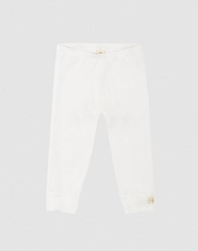 Baby legging gemaakt van natuurlijk katoen wit