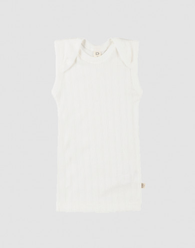 Baby onderhemd van natuurlijk katoen wit