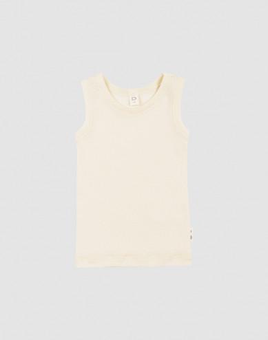 Merino wollen/zijden hemd voor baby's