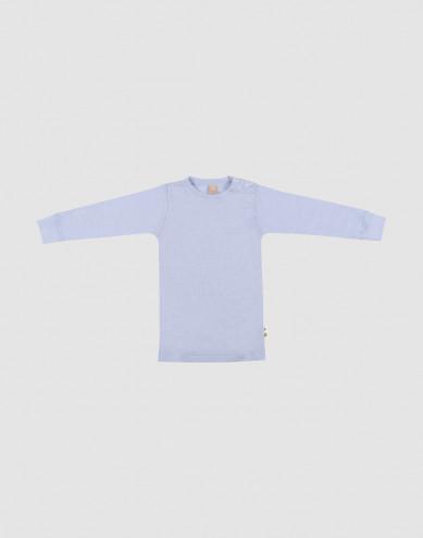 Merino wollen/zijden top met lange mouwen voor baby's