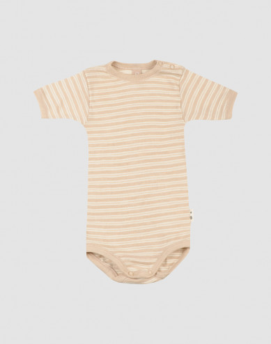 Merino wollen/zijden romper met korte mouwen voor baby's
