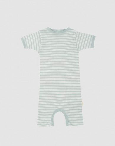Baby boxpakje van biologische wol en zijde pastelgroen/natuur