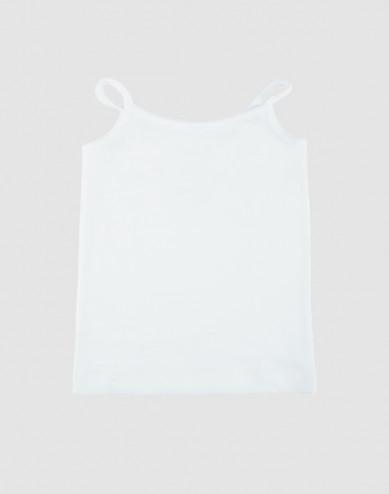 Katoenen top voor meisjes wit
