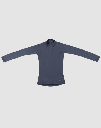 Shirt voor kinderen - Exclusieve natuurlijke merinowol blauw grijs